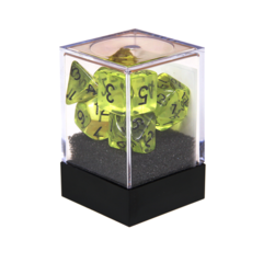 Набор разногранных прозрачных кубиков цвета зелёная скверна