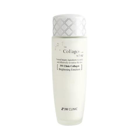 3W CLINIC Восстанавливающая эмульсия с коллагеном и ниацинамидом Collagen White Brightening Emulsion
