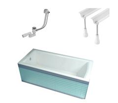 Ванна прямоугольная с каркасом, опорами и сифоном 170x75 см Ravak Domino Plus 70508024 фото