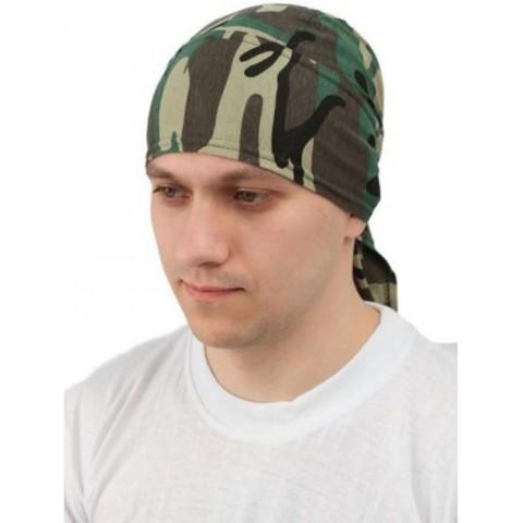 Бандана (косынка)  зеленый камуфляж (хлопок 100%)