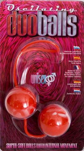 Красно-белые вагинальные шарики  со смещенным центром тяжести Duoballs