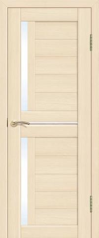 Дверь La Stella 202, стекло матовое, цвет ясень латте, остекленная