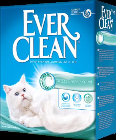 Ever Clean Aqua Breeze Scent - комкующийся наполнитель с ароматом морской свежести