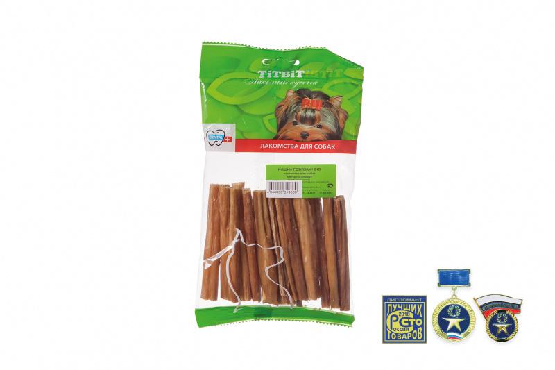 Лакомство для собак TitBit, Кишки говяжьи BIG купить с доставкой в интернет-магазине зоогастроном.ру