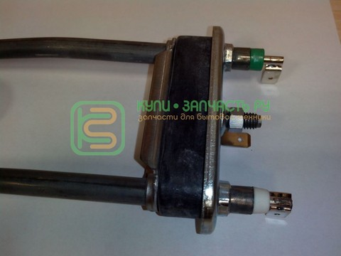 Тэн для стиральной машины Indesit (Индезит)/Ariston (Аристон) 081654, 086661 - 1700W немного изогнут, 212mm с отв.