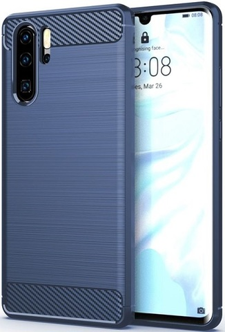 Чехол Huawei P30 Pro цвет Blue (синий), серия Carbon, Caseport