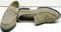 Модные лоферы из замши женские Osso 2668 Beige.