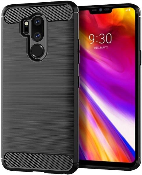 Чехол LG G7 ThinQ (G7+ ThinQ) цвет Black (черный), серия Carbon, Caseport