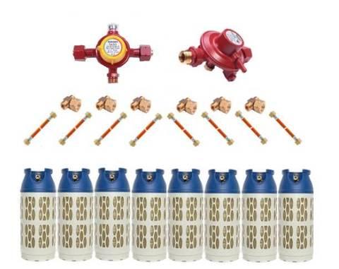 Газобаллонная система GOK (стандарт) для подключения 8 композитных баллонов