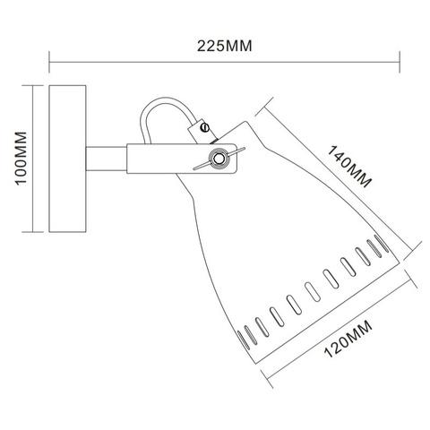 Бра CAMELION New York WML-428-1 C30 хром