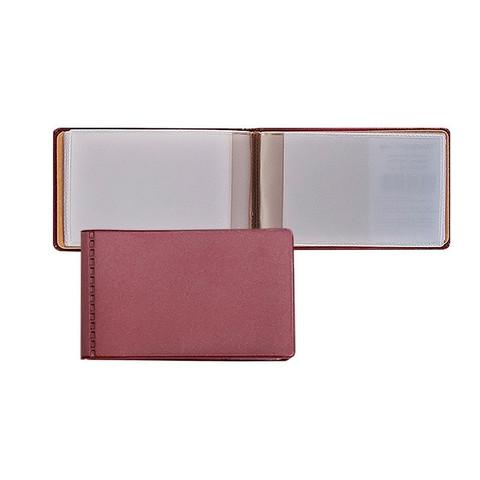 Визитница карманная ДПС на 28 визиток из ПВХ бордового цвета (2754-103)