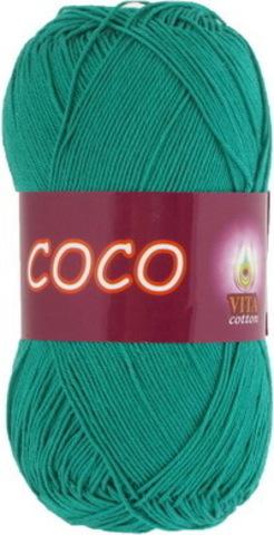 Пряжа Coco (Vita cotton) 4310 Зеленая бирюза