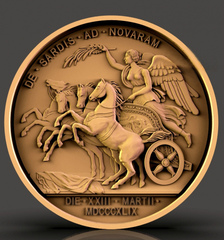 Силиконовый молд № 2282 медальон