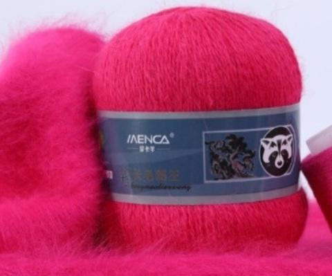 Пряжа Пух норки 806 розовый неон