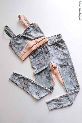 Set: Strap top + Ziphirus leggings, stained in print