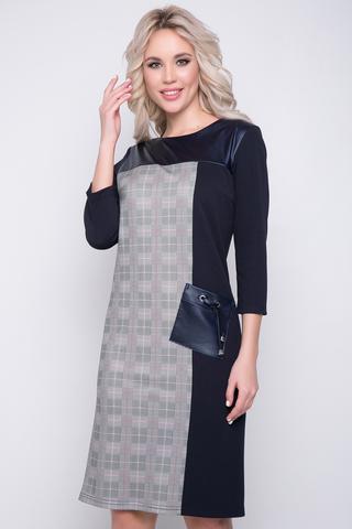 <p>Это платье - козырь в Вашем гардеробе! Оно очень комфортное, имеет лаконичный, но интересный дизайн. Простой, отличный вариант для деловых встреч. Отделка из эко кожи. (Длины: 46-48=97см; 50-52=100см;)</p>