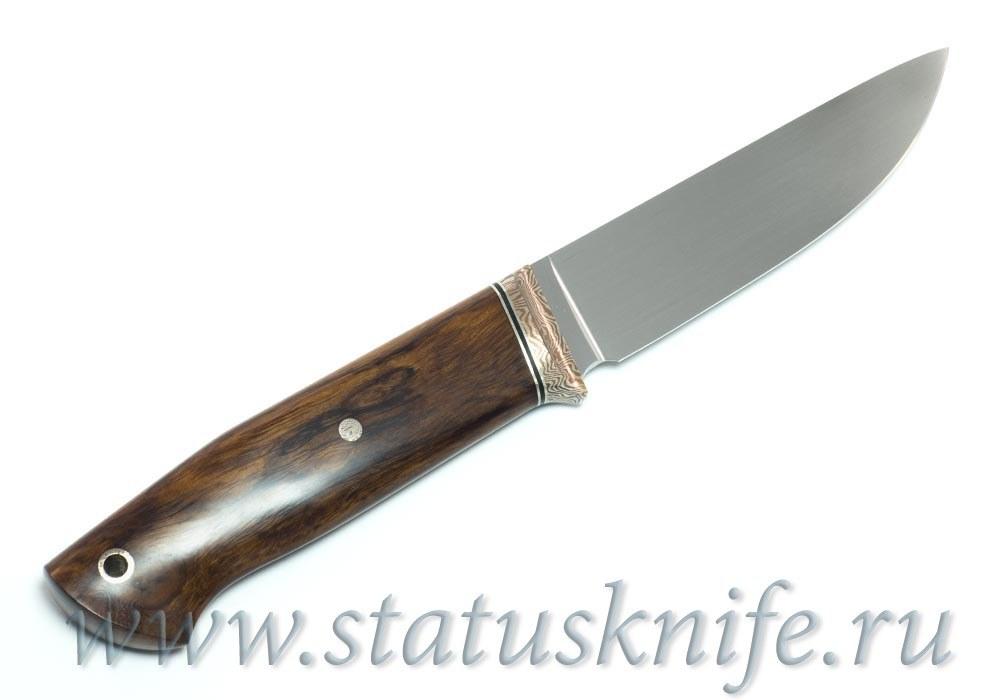Нож авторский S125VN Мокуме мельхиор ironwood - фотография