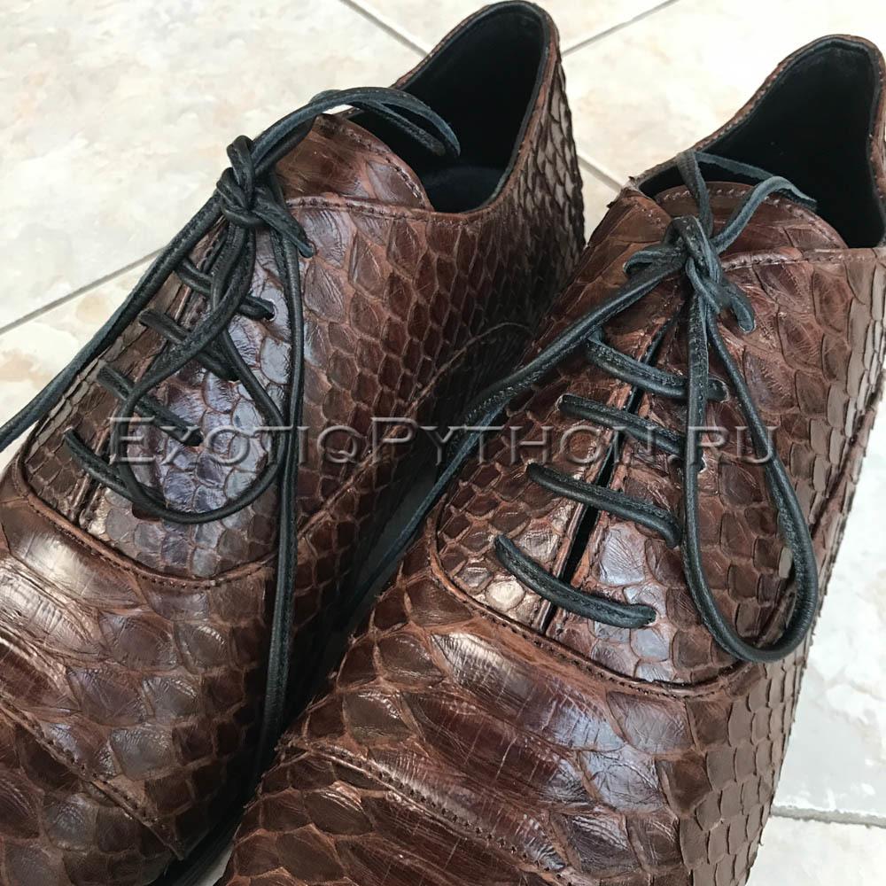 Мужские туфли из кожи питона SH-127