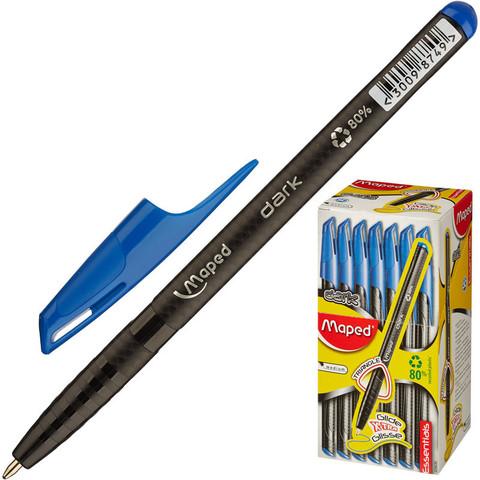 Ручка шариковая одноразовая Maped Green Dark синяя (толщина линии 0.6 мм)