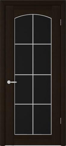 Дверь Фрегат Верона Классик, триплекс чёрное, цвет венге, остекленная