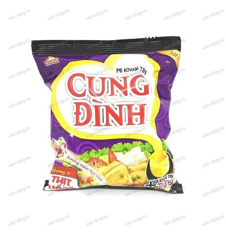 Вьетнамская пшеничная лапша CUNG DINH со вкусом свинины с бамбуком, 80 гр.