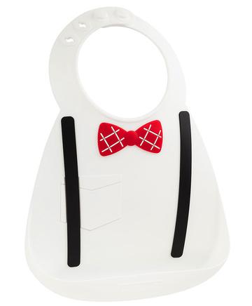Make My Day Детский нагрудник, белый Tie & Suspender