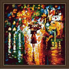 В дождь-раскраски по номерам