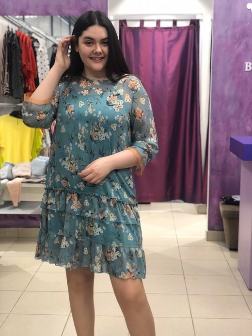 Платье Aleksandra 2997 Мелинда букетики шифон (В20)