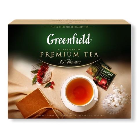 Greenfield ГРИНФИЛД. Подарочный набор. Коллекция превосходного чая и чайных напитков 30 видов, пакетированный. 120 пакетиков, по 4 каждого вида