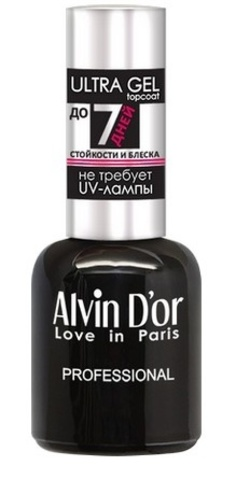 Alvin D`or  Лак для ногтей ULTRA GEL topcoat 15мл  ADN-3401