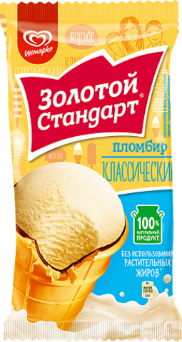 "Мороженое стаканчик ""Золотой стандарт"" Пломбир 86г"
