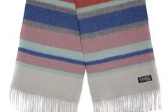 Шерстяной шарф, мужской полосатый цветной 30311
