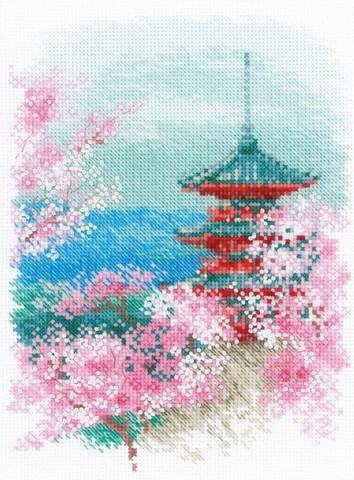 Сакура. Пагода