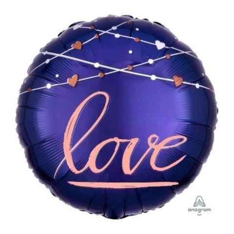 Фольгированный шар LOVE Синяя мистика