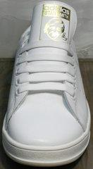 Женские белые кеды Adidas Stan Smith White-R A14w15wg