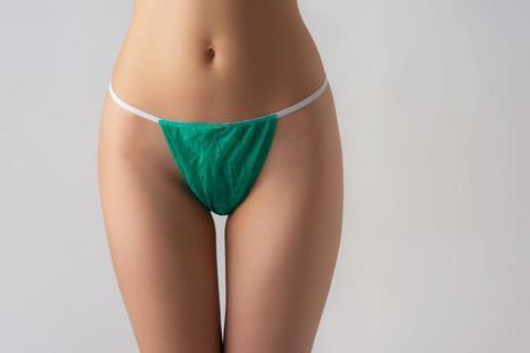*Трусы бикини женские (Чистовье/спандбонд/зелёный/25шт-упк/р.44-48/01-551)