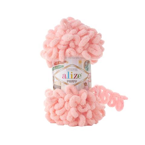 Купить Пряжа Alize Puffy Код цвета 722 Светло-персиковый | Интернет-магазин пряжи «Пряха»