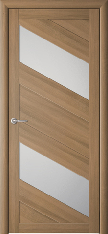 Дверь ALBERO Сингапур-2 (кипарис янтарный, остекленная экошпон), фабрика Фрегат