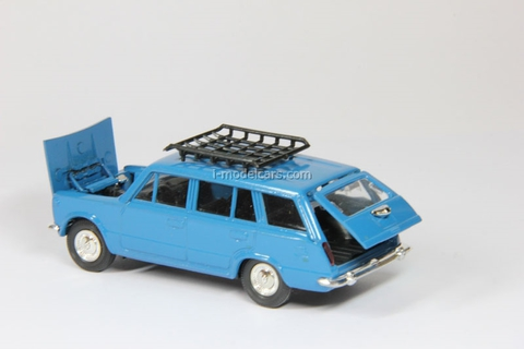 VAZ-2102 Lada with roof rack blue Agat Mossar Tantal 1:43