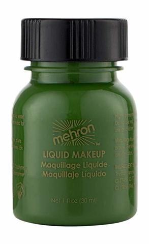 MEHRON Жидкий грим Liquid Makeup, Green (Зеленый), 30 мл