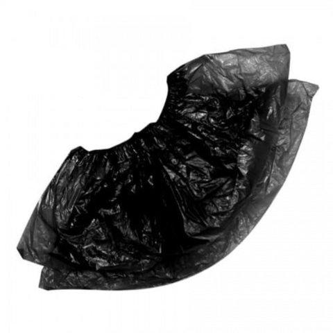 Бахилы Экстра Плюс, Черные, 2 резинки, 50 пар