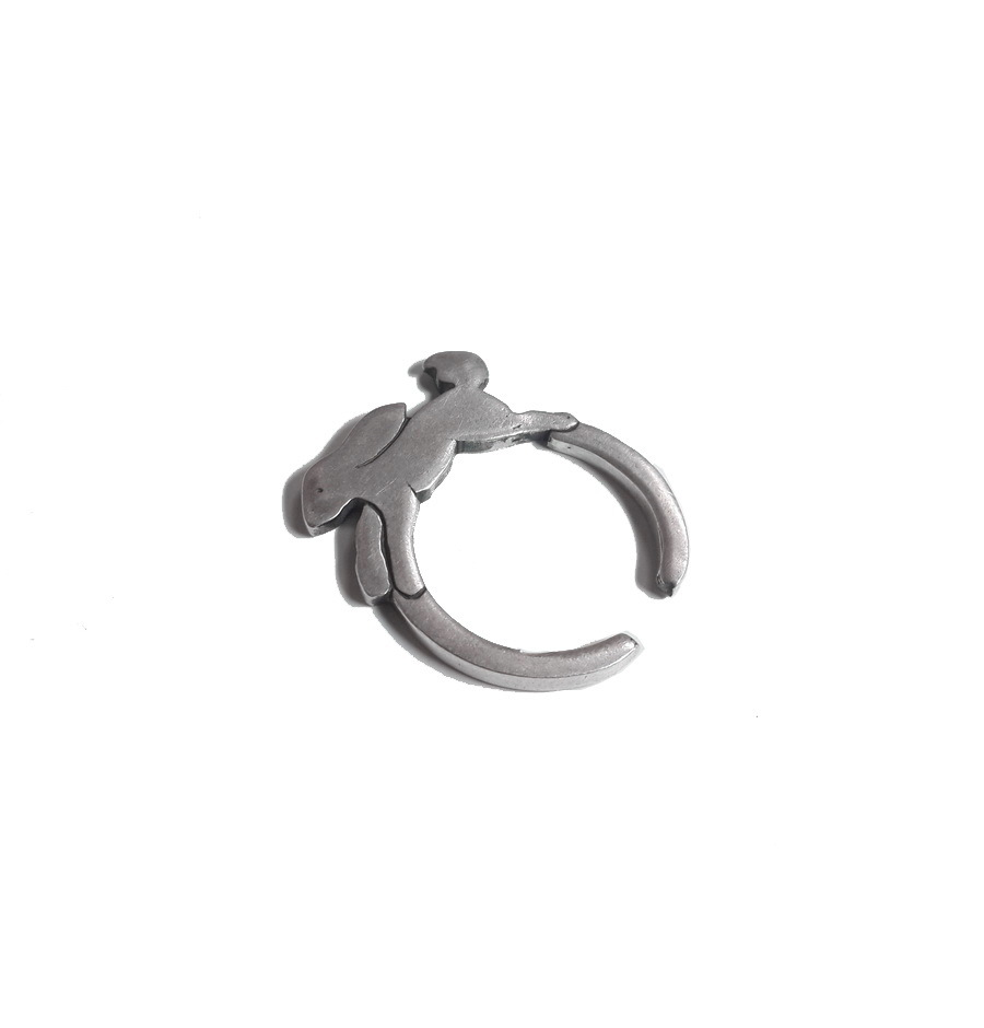 Bunny Ring, Sterling Silver