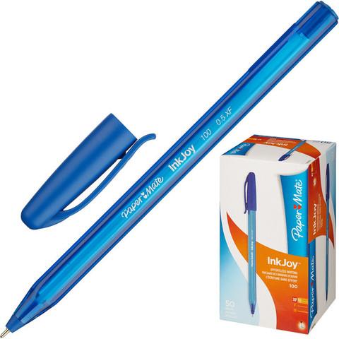 Ручка шариковая одноразовая Paper Mate InkJoy синяя (толщина линии 0.3 мм)