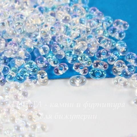 58205 Бисер Preciosa Фарфаль (Farfalle) 4х2 мм прозрачный радужный