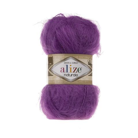 Пряжа Alize Naturale 206 пурпурный