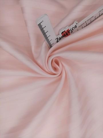 Сатин страйп Бело-розовый фарфор