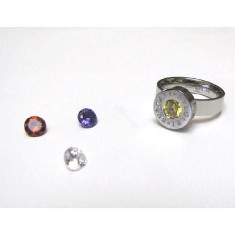 Кольцо White Gold (сменные камни)