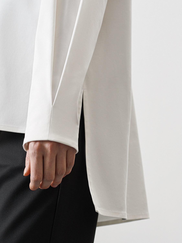 Блуза Goldy с удлинением сзади, Белый