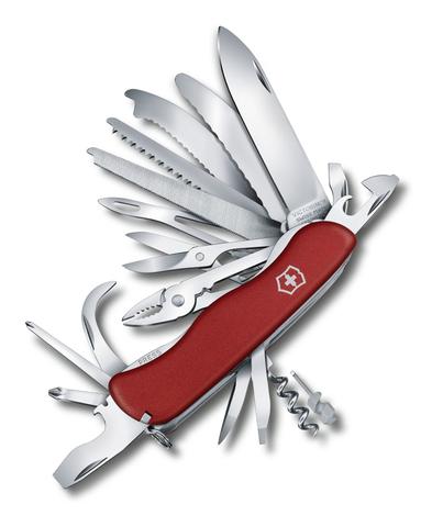 Нож Victorinox WorkChamp XL, 111 мм, 31 функция, с фиксатором лезвия, красный