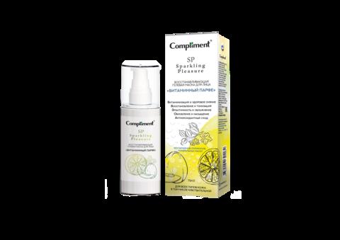 Compliment Sparkling Pleasure восстанавливающая гелевая маска для лица «Витаминный парфе»